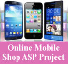 Online Mobile Shop in ASPNET Project