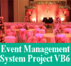 Online Event Management System Project VB6