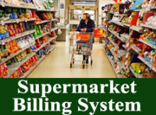 Retail Supermarket Billing System