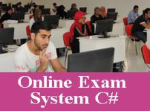 Online exam project in C#