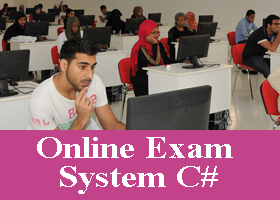 Online exam project in C#